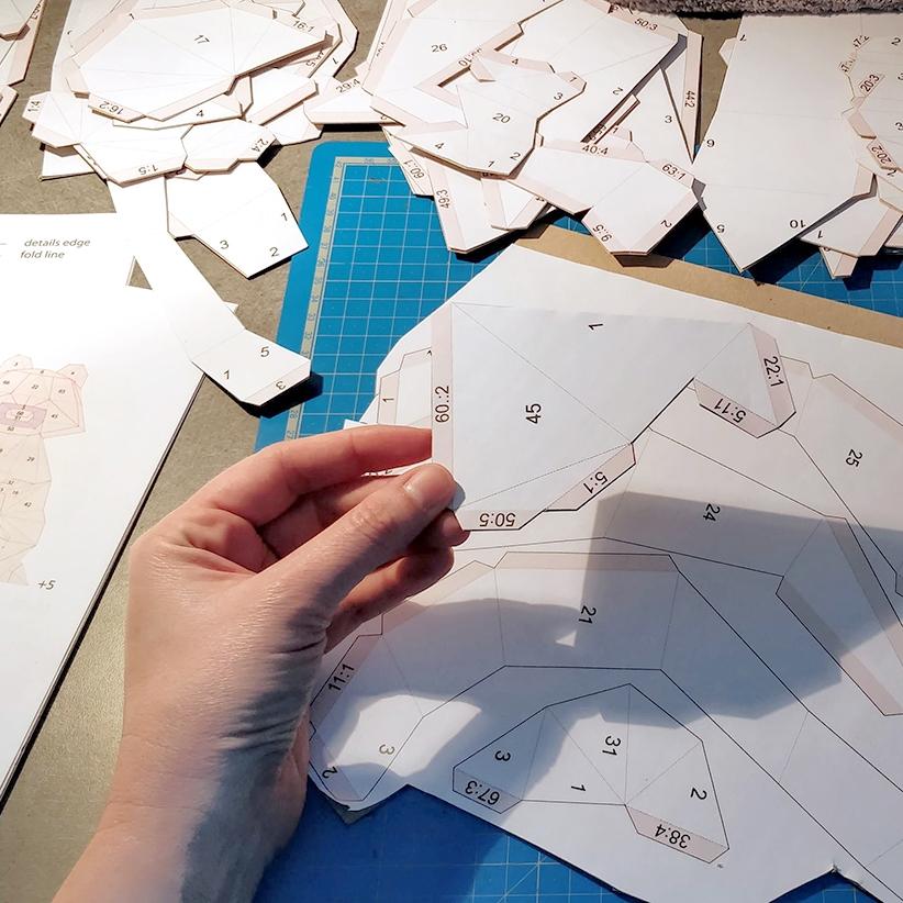 Papercraft - Pièce découpé