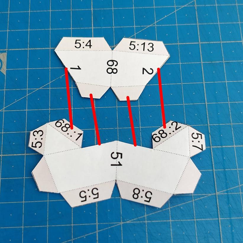 Papercraft - Collage des pièces