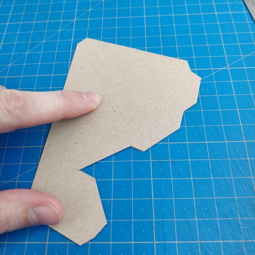 Papercraft - Marquage plis effectué