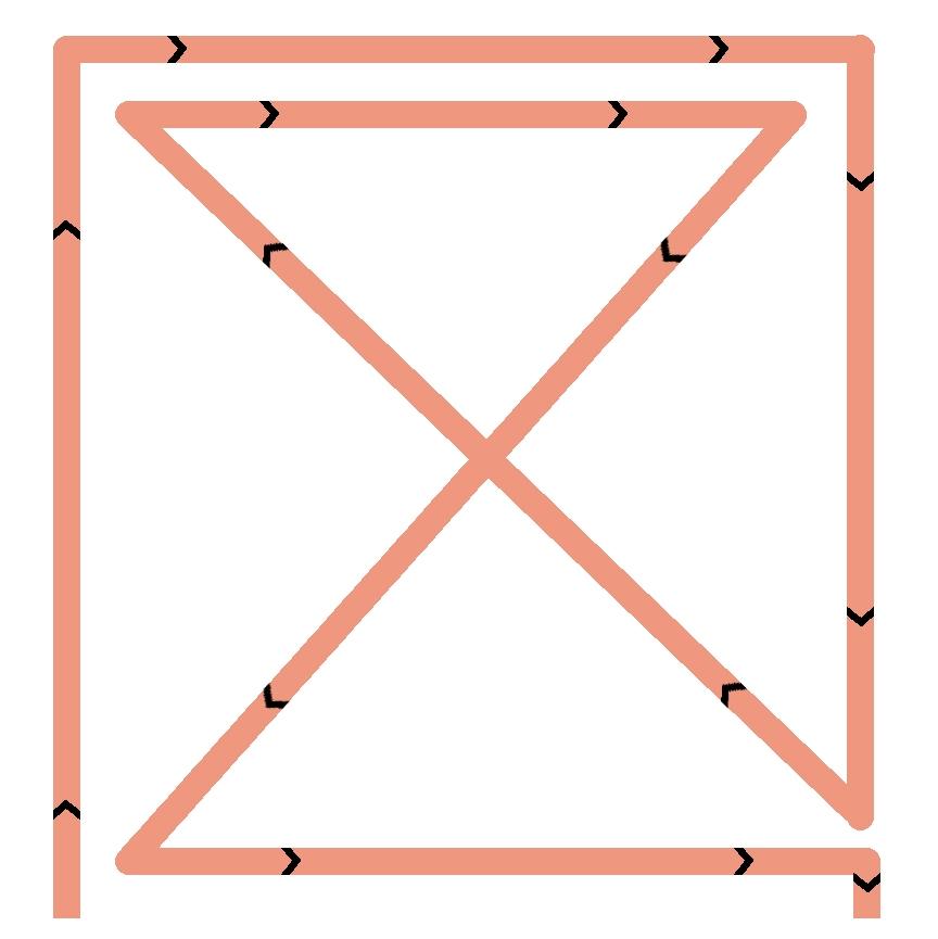 sac Georges schéma pour coudre un carré et une croix
