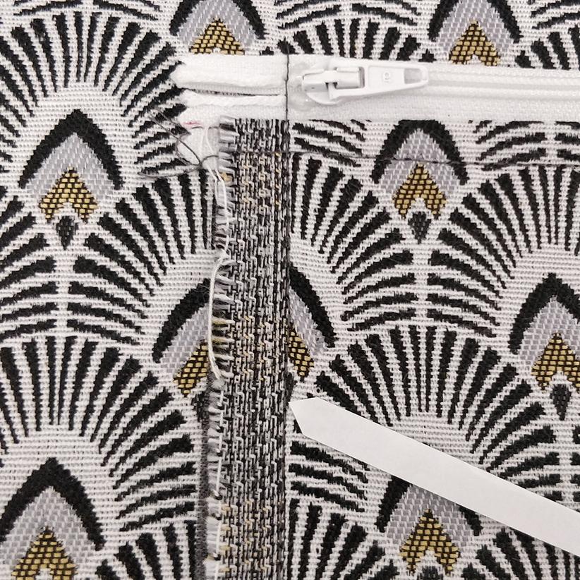sac Georges Couture des côtés de la poche zippé