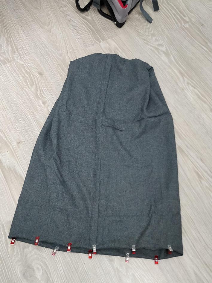 housse sac randonnée : couture bas