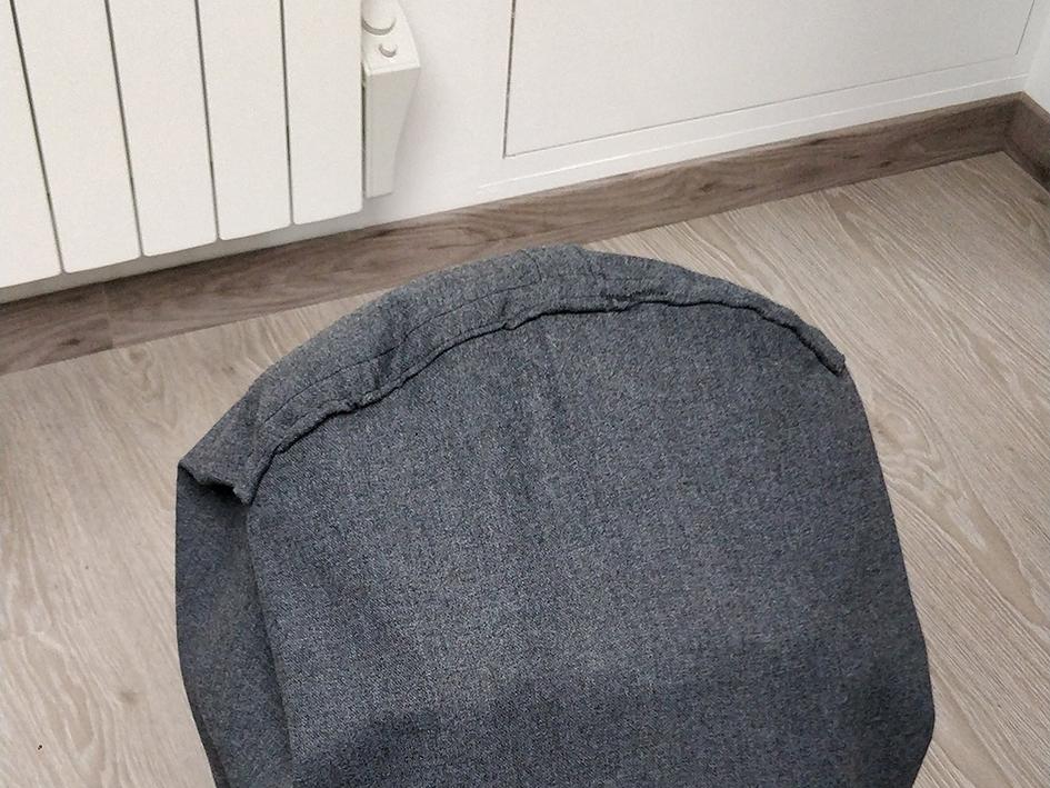 housse sac randonnée : couture tête