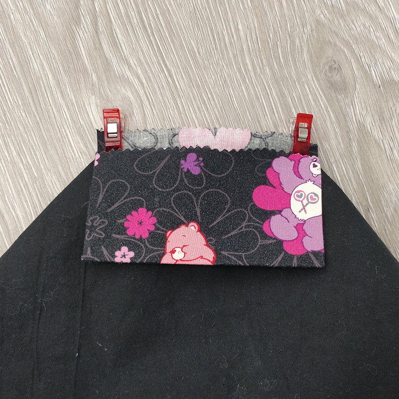 trousse enfant : placement de la bordure