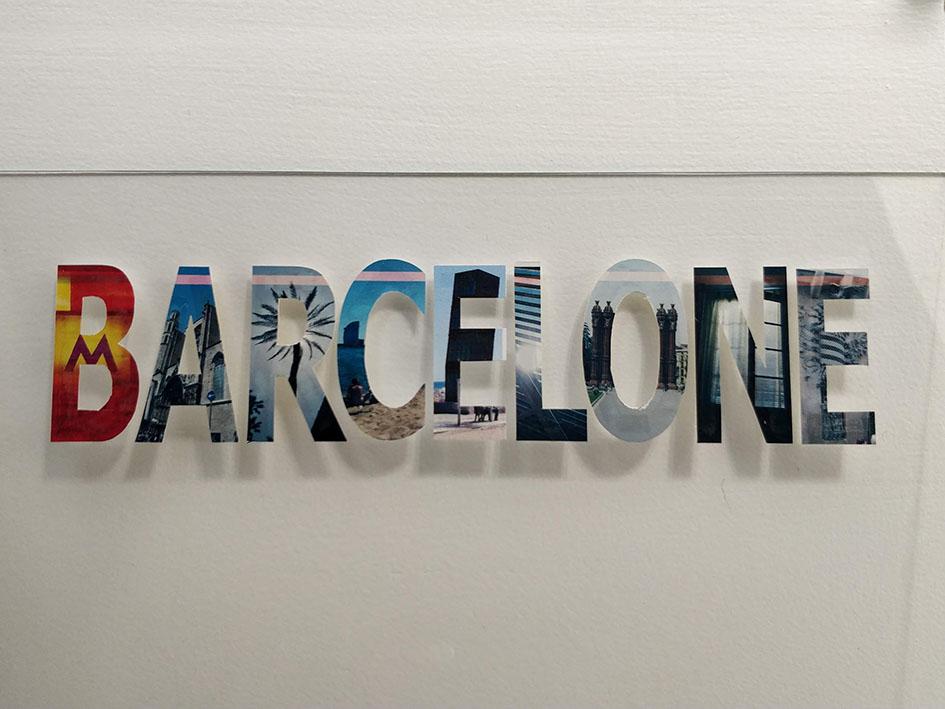 cadre vacances Barcelone lettres